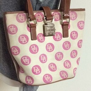 Dooney & Bourke pink dots bucket bag
